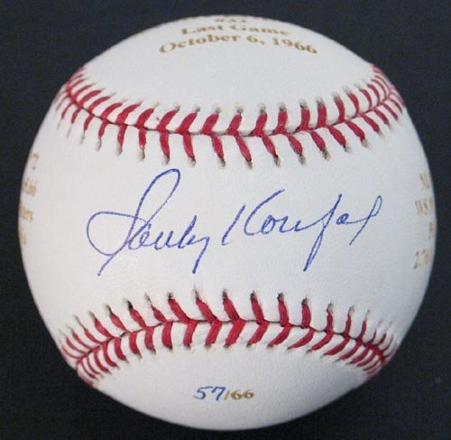 2218: SANDY KOUFAX SIGNED LE NL BALL - PSA/DNA