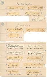 2266: 1920s MAJOR LEAGUERS AUTOGRAPHED ARCHIVE-PSA/DNA