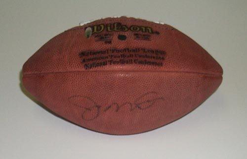 2321: JOE MONTANA SIGNED FOOTBALL - UPPER DECK COA