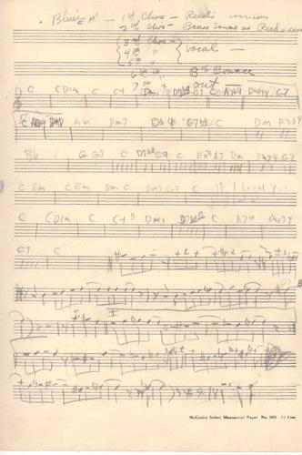 2402: JOHN COLTRANE AUTOGRAPH MUSIC QUOTE