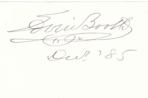 2408: EDWIN BOOTH SIGNED CARD - ACTOR
