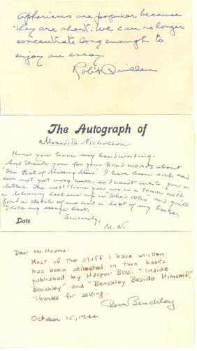 2420: WRITERS AUTOGRAPH LETTERS SIGNED ARCHIVE