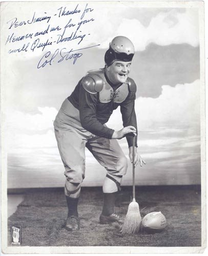 """2422: F. CHASE TAYLOR 8X10 PHOTO SIGNED - """"COL. STOOP"""""""
