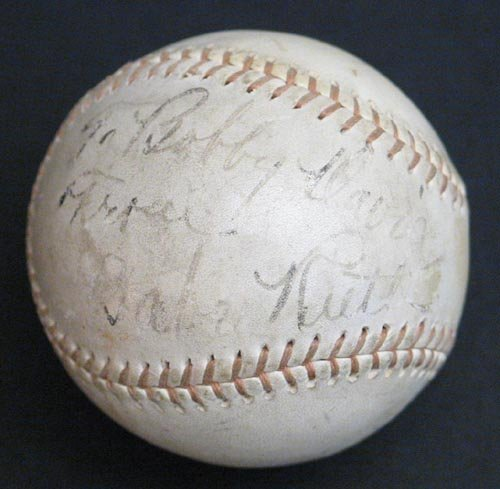 2603: BABE RUTH SIGNED OFFICIAL AL BASEBALL - PSA/DNA