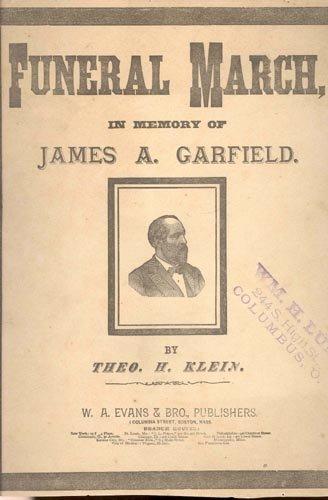 2613: (JAMES A. GARFIELD) FUNERAL MARCH SHEET MUSIC