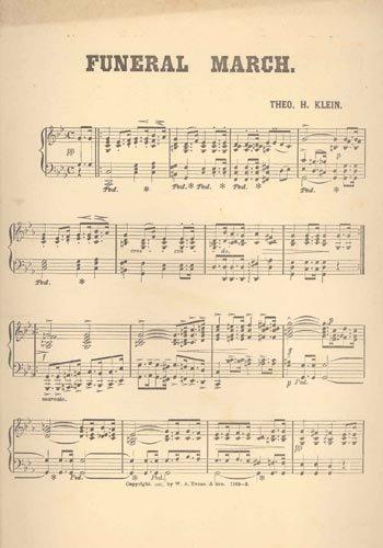 2613: (JAMES A. GARFIELD) FUNERAL MARCH SHEET MUSIC - 2