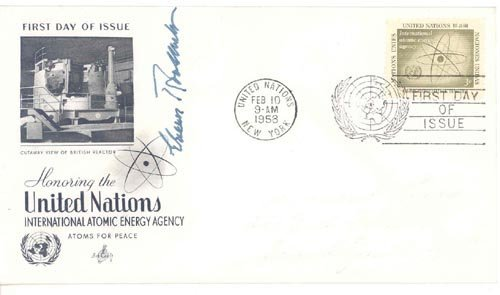 2619: ELEANOR ROOSEVELT FIRST DAY COVER SIGNED - FDR