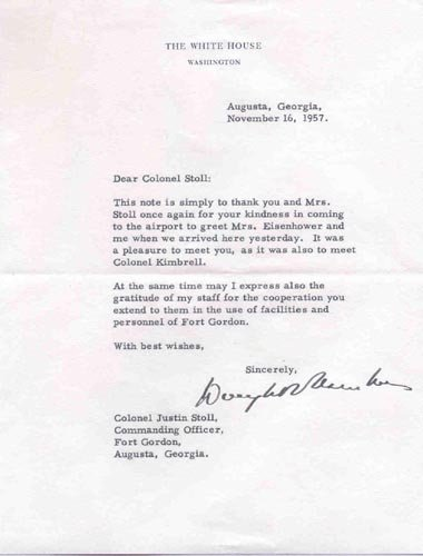 2623: DWIGHT D. EISENHOWER TYPED LETTER SIGNED AS PRES