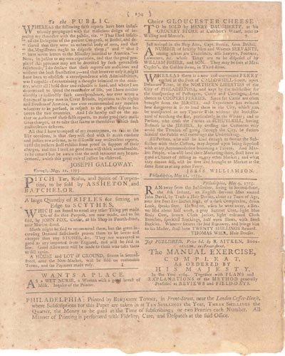2668: 1775 REVOLUTIONARY WAR NEWSPAPER - 2