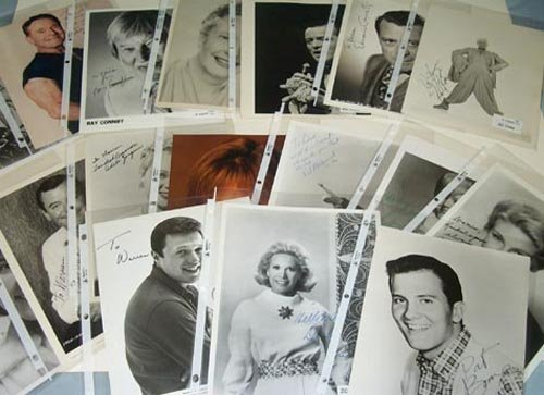 2744: CELEBRITIES 8X10 PHOTOS SIGNED ARCHIVE - PSA/DNA