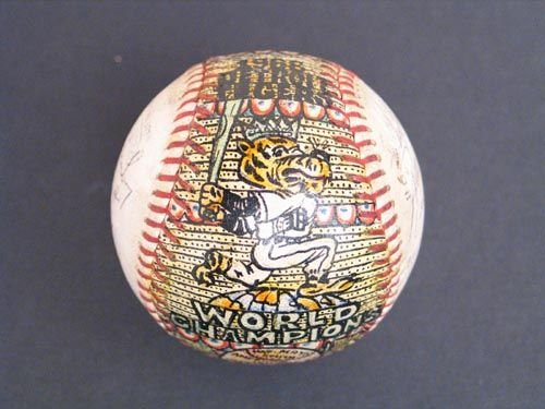 3019: 1968 W.S. CHAMPS TIGERS SIGNED SOSNAK BALL - PSA