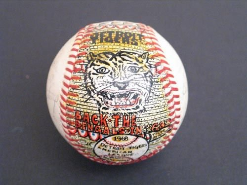 3020: 1968 W.S. CHAMPS TIGERS SIGNED SOSNAK BALL - PSA