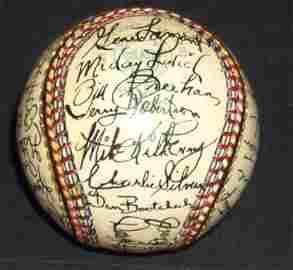 3023: 1971 DETROIT TIGERS SIGNED SOSNAK BALL - PSA/DNA