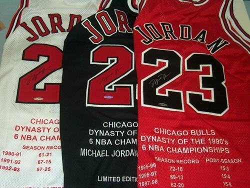 4000: 3 MICHAEL JORDAN SIGNED BULLS JERSEYS - FROM UDA