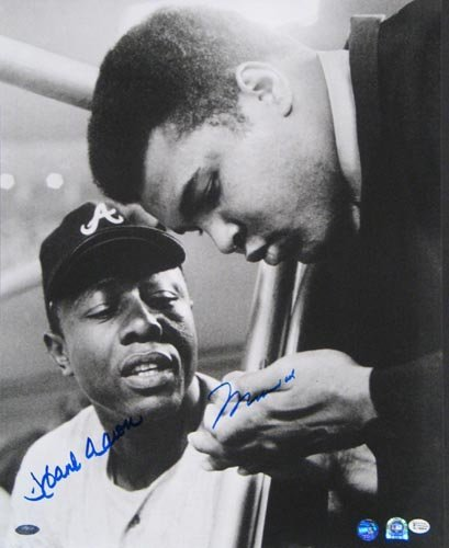 4005: M. ALI & H. AARON 16X20 PHOTO SIGNED- STEINER
