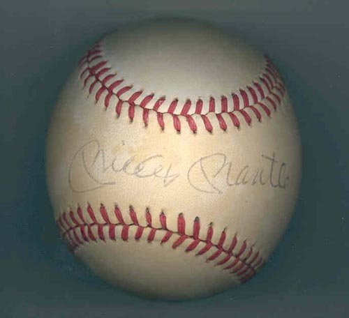 4009: MICKEY MANTLE SIGNED OFFICIAL AL BALL - PSA/DNA
