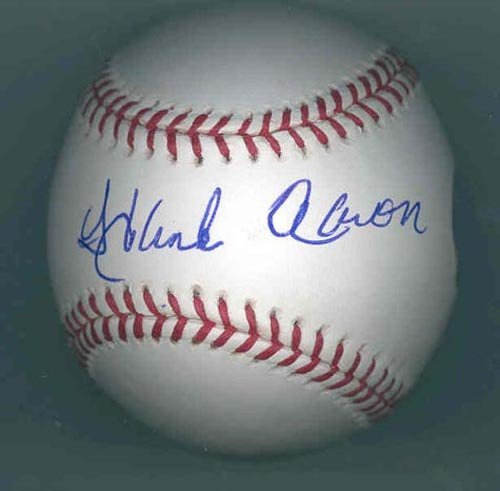 4011: HANK AARON SIGNED OFFICIAL ML BASEBALL - STEINER