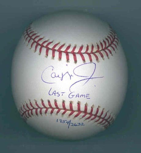 "4014: CAL RIPKEN JR. ""LAST GAME"" SIGNED BALL - PSA/DNA"