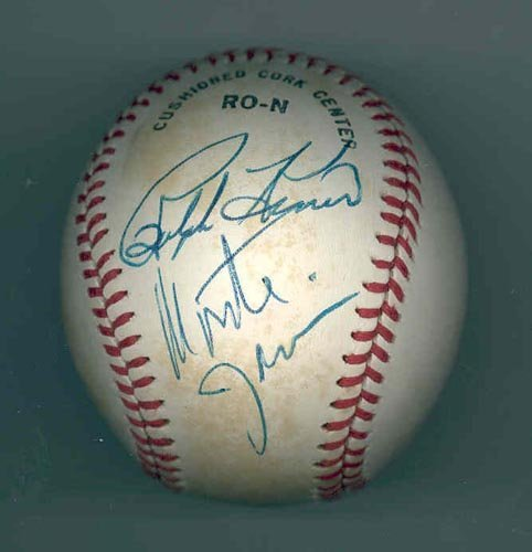 4018: RALPH KINER & MONTE IRVIN SIGNED BALL - PSA/DNA