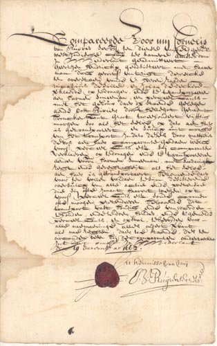 854: CORNELIS VAN RUYVEN 1662 DOCUMENT SIGNED
