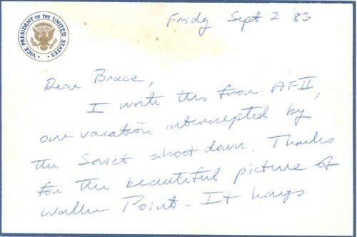 856: GEORGE BUSH AUTOGRAPH LETTER SIGNED AS VP