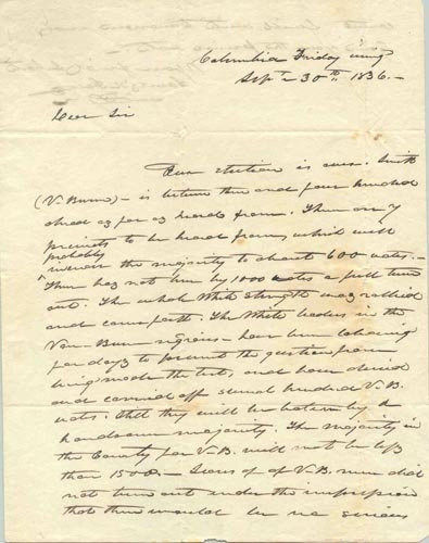 861: JAMES K. POLK AUTOGRAPH LETTER SIGNED