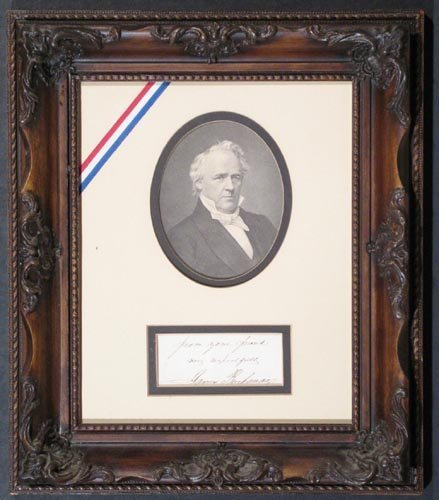 862: JAMES BUCHANAN AUTOGRAPH NOTE SIGNED - PRESIDENT
