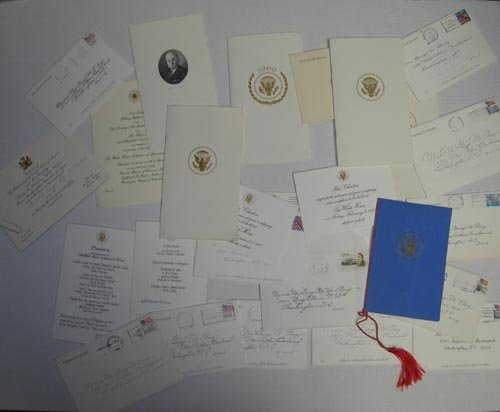 896: WHITE HOUSE INVITATIONS, MENUS, PROGRAMS ARCHIVE