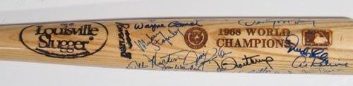 1200: 1968 DET TIGERS WORLD CHAMPIONS SIGNED BAT - PSA