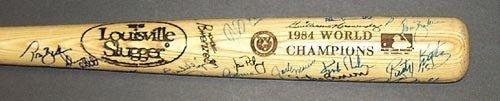 1201: 1984 DET TIGERS WORLD CHAMPIONS SIGNED BAT - PSA