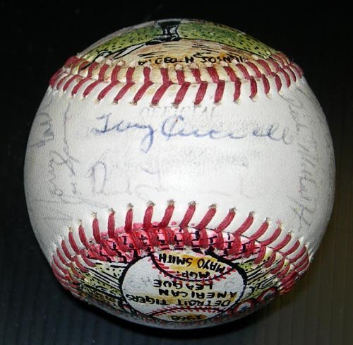 1202: 1968 W.S. CHAMPS TIGERS SIGNED SOSNAK BALL - PSA