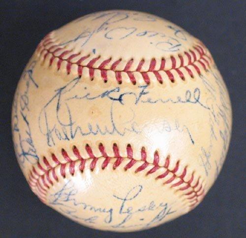 1212: 1952 DETROIT TIGERS SIGNED AL BALL - PSA/DNA