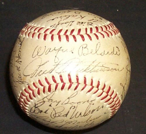 1213: 1954 DETROIT TIGERS SIGNED OFFICIAL BALL - PSA