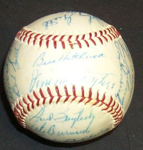 1216: 1959 DETROIT TIGERS SIGNED OFFICIAL BALL - PSA