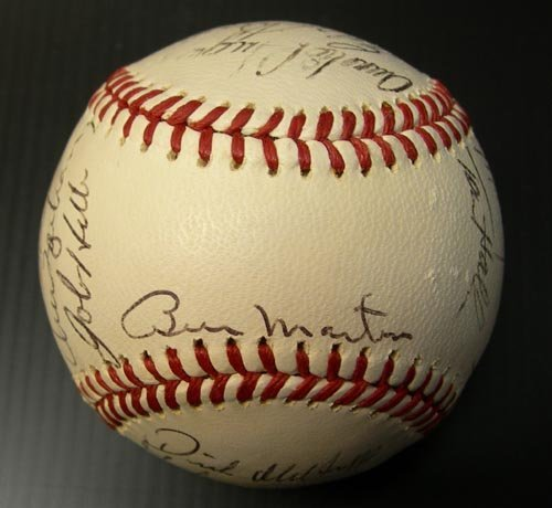 1222: 1971 DETROIT TIGERS SIGNED OFFICIAL BALL - PSA