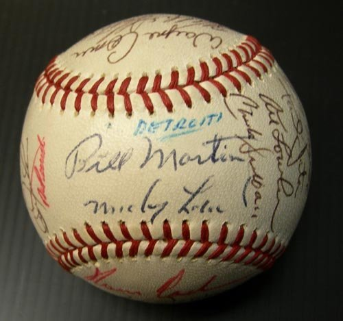 1223: 1972 DETROIT TIGERS SIGNED OFFICIAL BALL - PSA