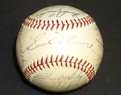 1209A: 1941 DETROIT TIGERS SIGNED OFFICIAL BALL - PSA