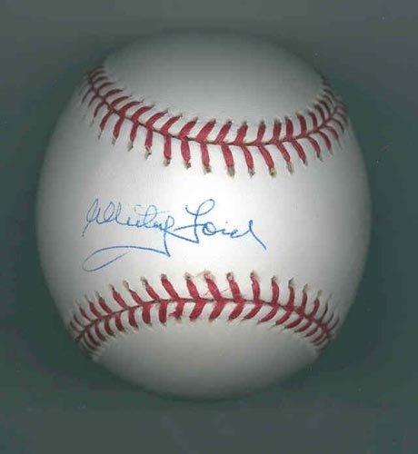 1276: WHITEY FORD SIGNED MLB BASEBALL - PSA/DNA