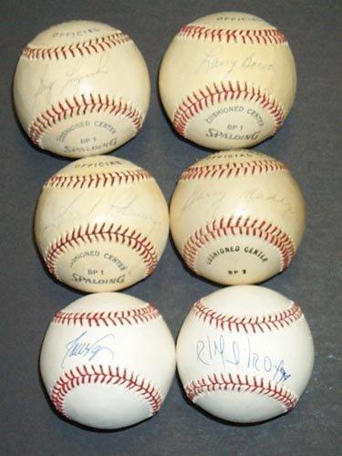 1292: 6 BASEBALL GREATS SINGLE SIGNED BALLS - PSA/DNA