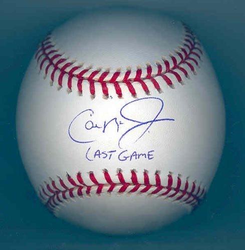 """9278: CAL RIPKEN JR. """"LAST GAME"""" SIGNED BALL - PSA/DNA"""