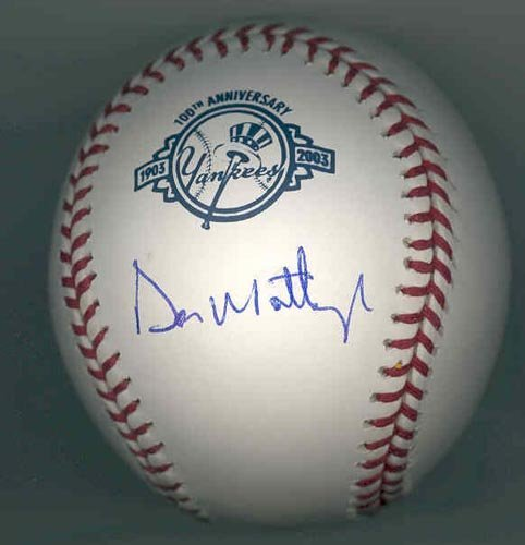 9281: DON MATTINGLY SIGNED OFFICIAL MLB BALL - STEINER
