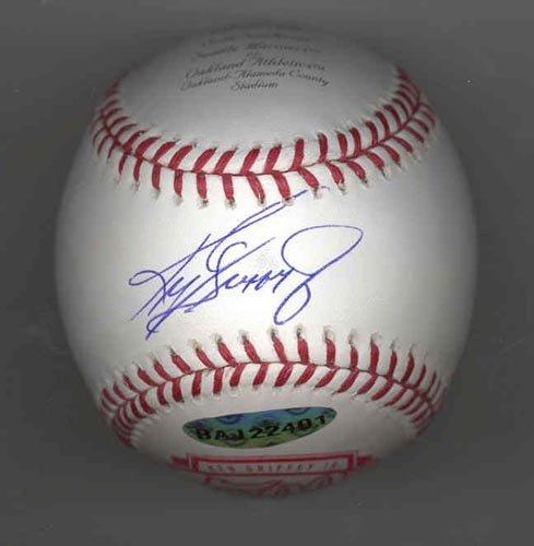 9283: KEN GRIFFEY JR  SIGNED LTD. ED.BALL - PSA & UD
