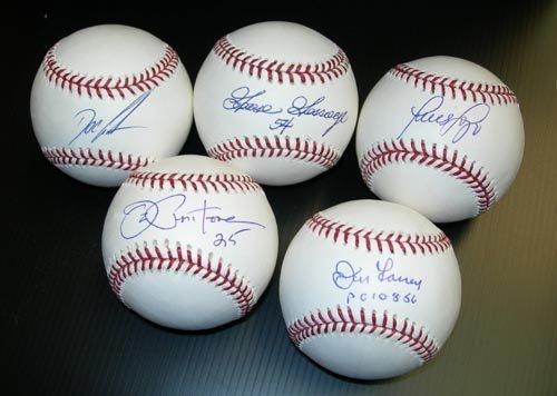 9290: NY YANKEE GREATS SINGLE SIGNED BALLS - AAC