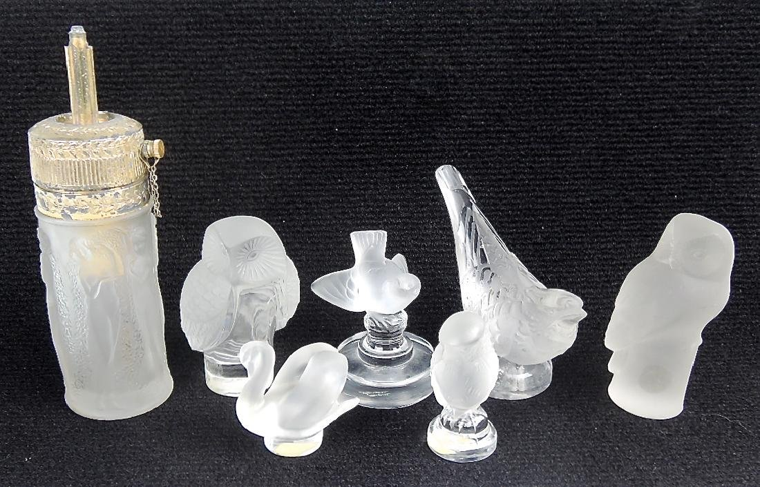 Lalique Group of Figurines & Perfume Atomizer