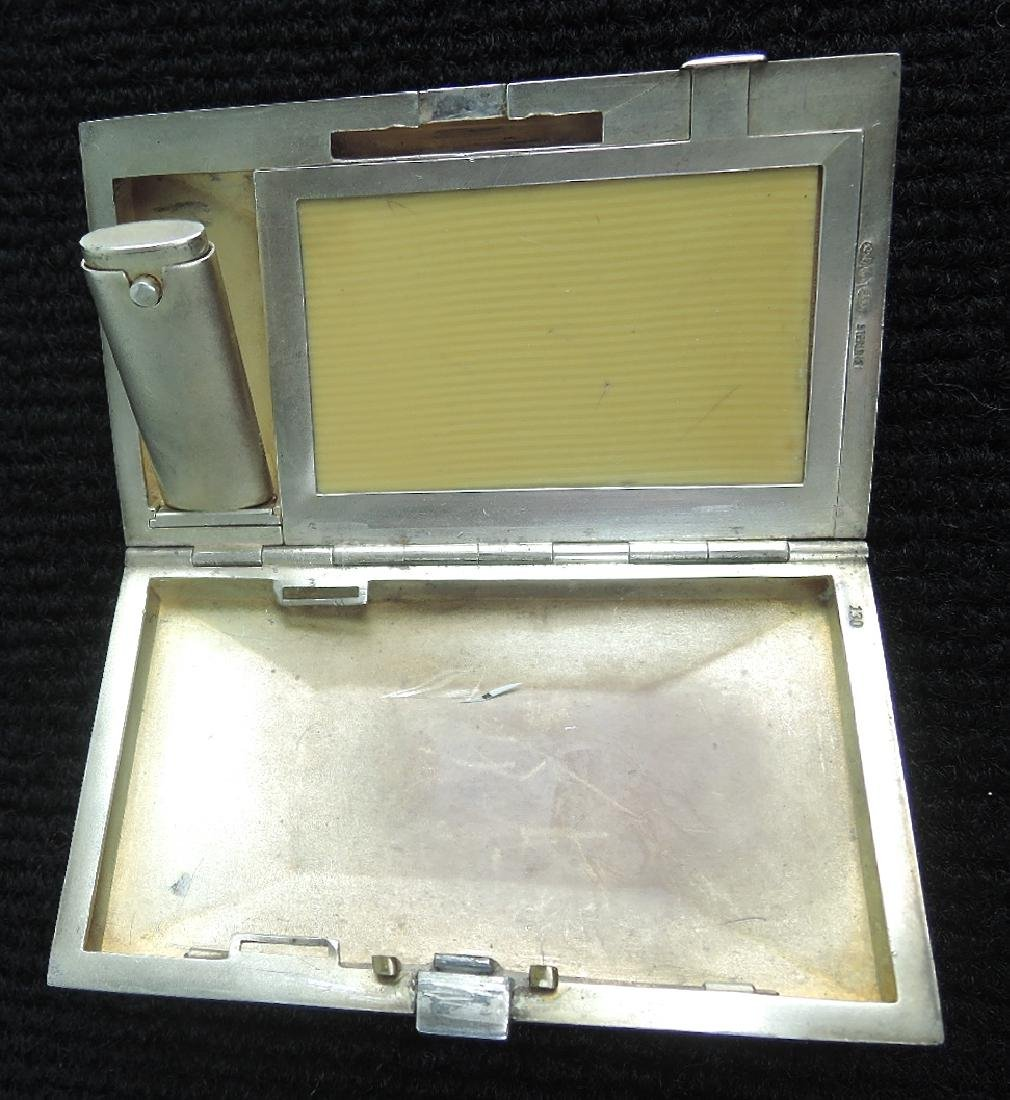 Eggshell Lacquer & Silver Cigarette Case - 4
