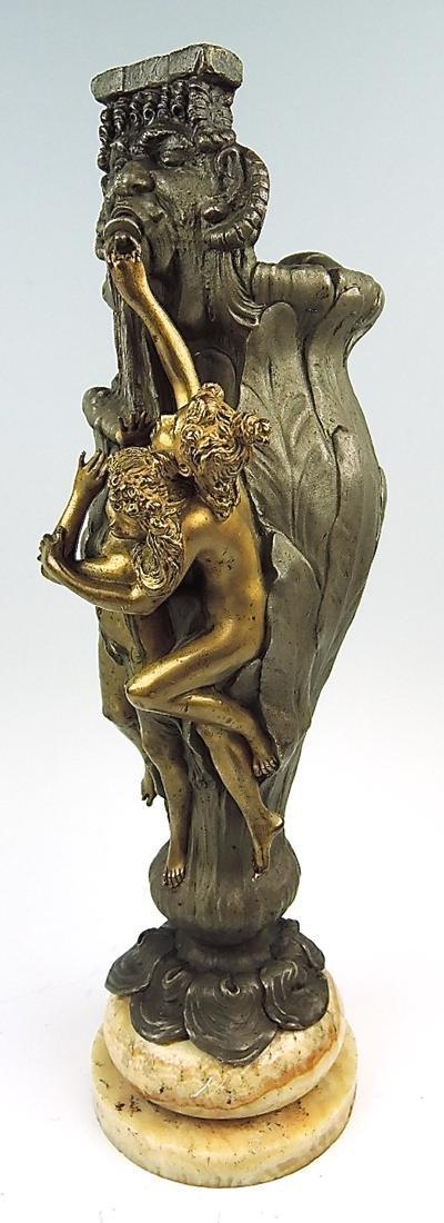 Rare Kauba Geschutz Bronze Figural Vase - 2