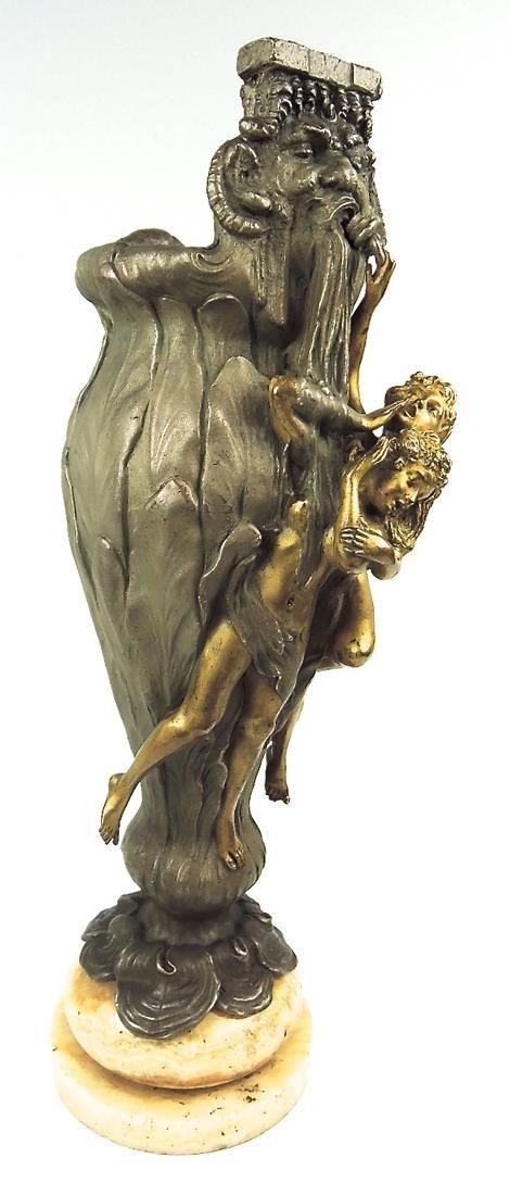 Rare Kauba Geschutz Bronze Figural Vase - 3