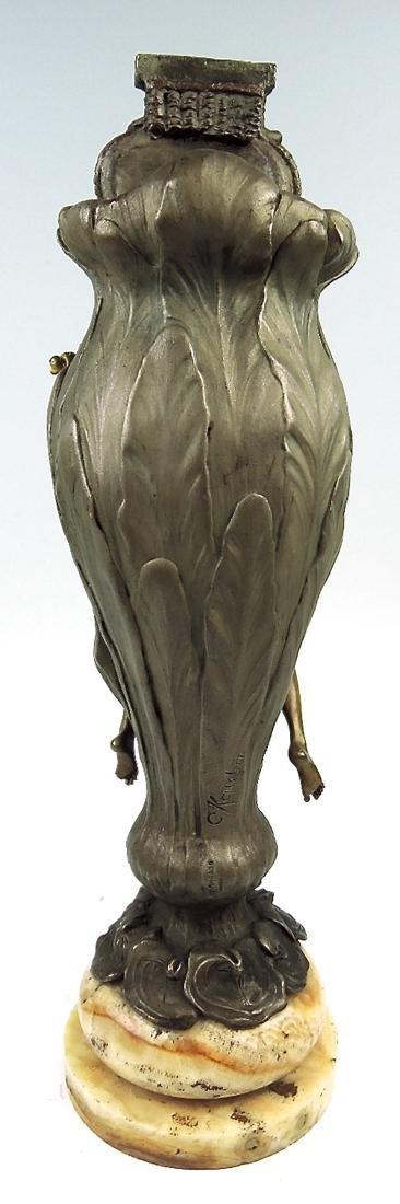 Rare Kauba Geschutz Bronze Figural Vase - 4