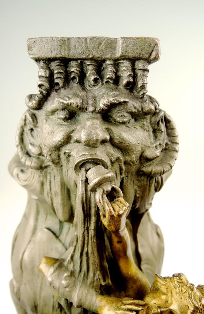 Rare Kauba Geschutz Bronze Figural Vase - 7