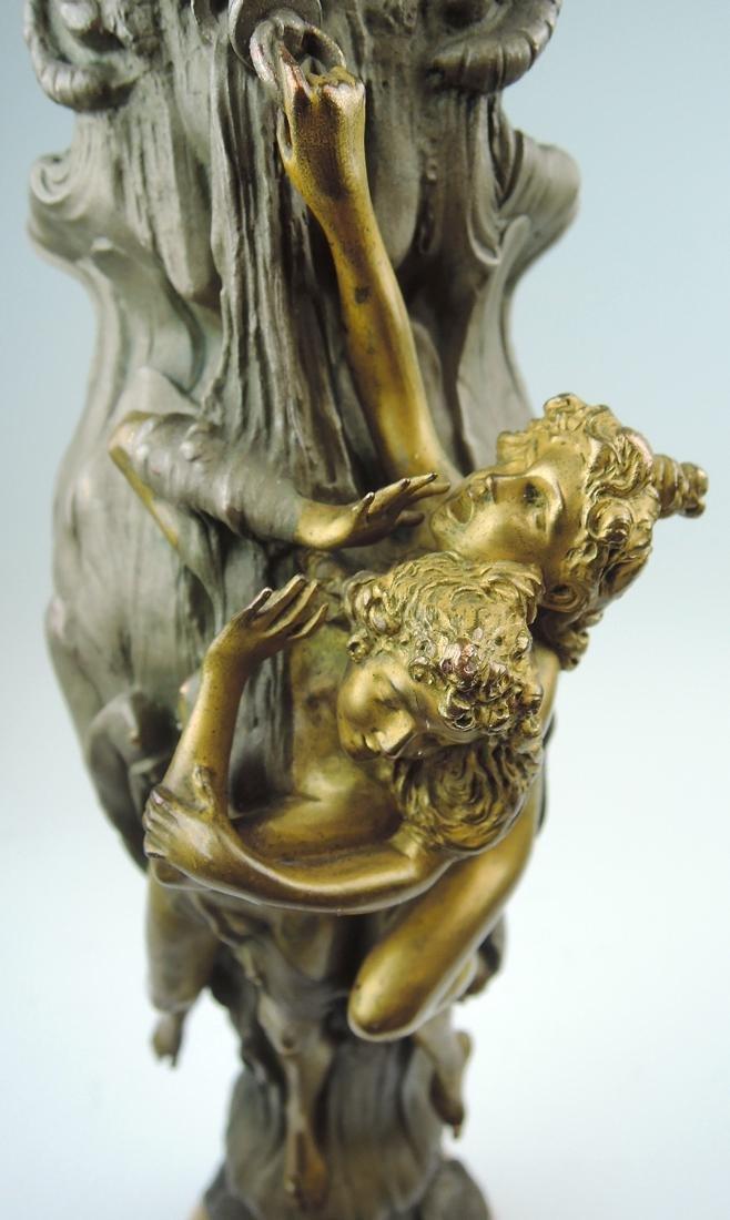 Rare Kauba Geschutz Bronze Figural Vase - 8